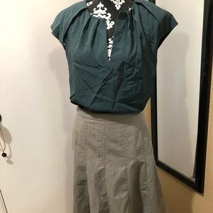 Banana Republic Top and 5th skirt ensemble